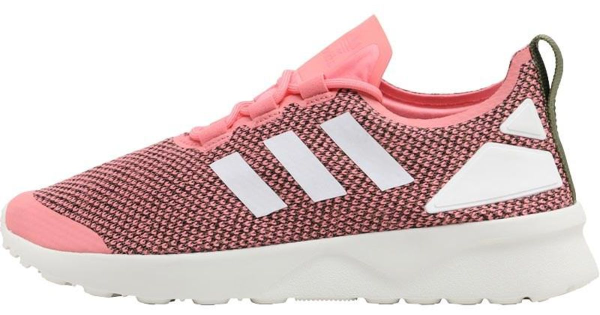 finest selection 8421f 8e844 Adidas Originals - Zx Flux Adv Verve Trainers Olive Cargo/core White/ray  Pink - Lyst