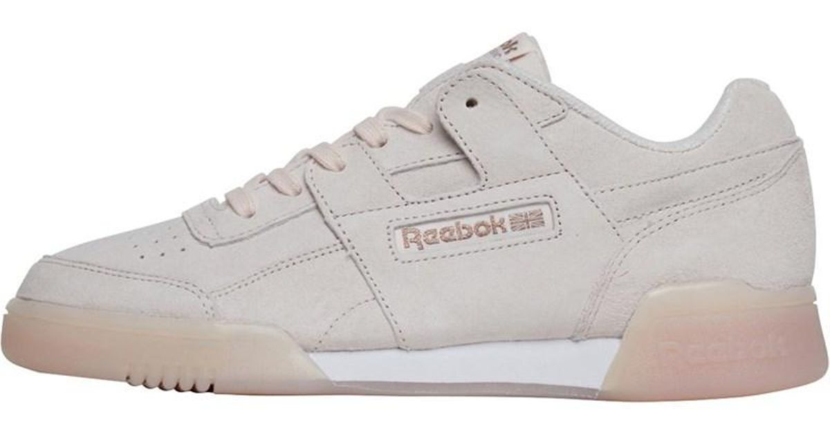 db3d5e67457 Reebok Workout Plus Ice Trainers Pale Pink white rose Gold in Pink - Lyst