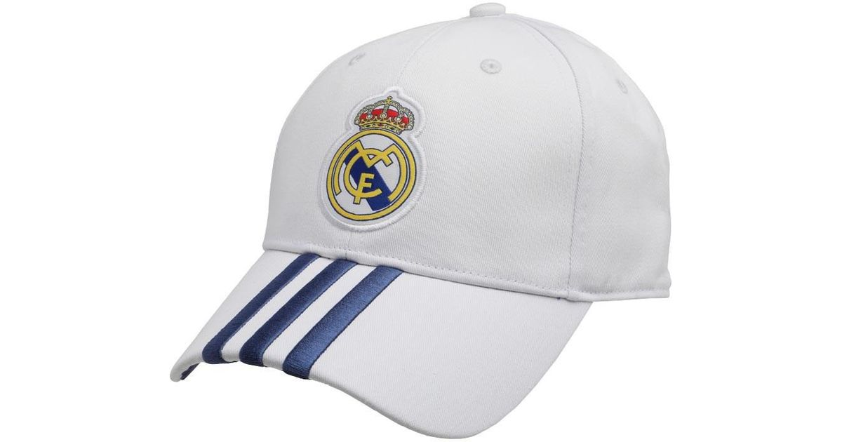 0fe60c0192cdb adidas Rmcf Real Madrid Home 3 Stripe Cap Crystal White raw Purple in White  for Men - Lyst