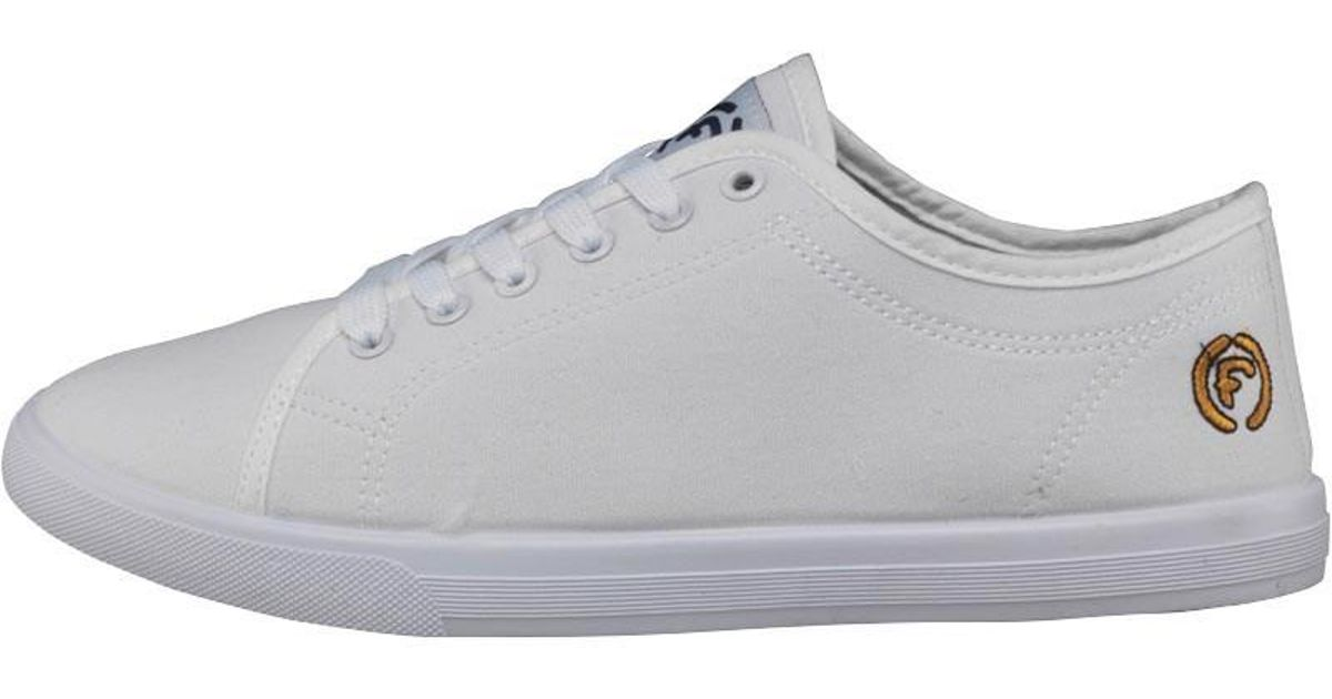 79019378d3ca Firetrap Swift Canvas Trainers White in White for Men - Lyst