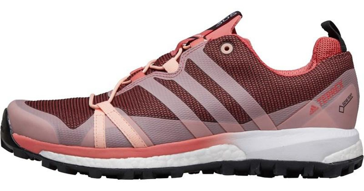 finest selection 3513d 154cf adidas Terrex Agravic Gtx Gore-tex Trail Running Shoes Tactile Pink haze  Coral cloud White in Pink - Lyst