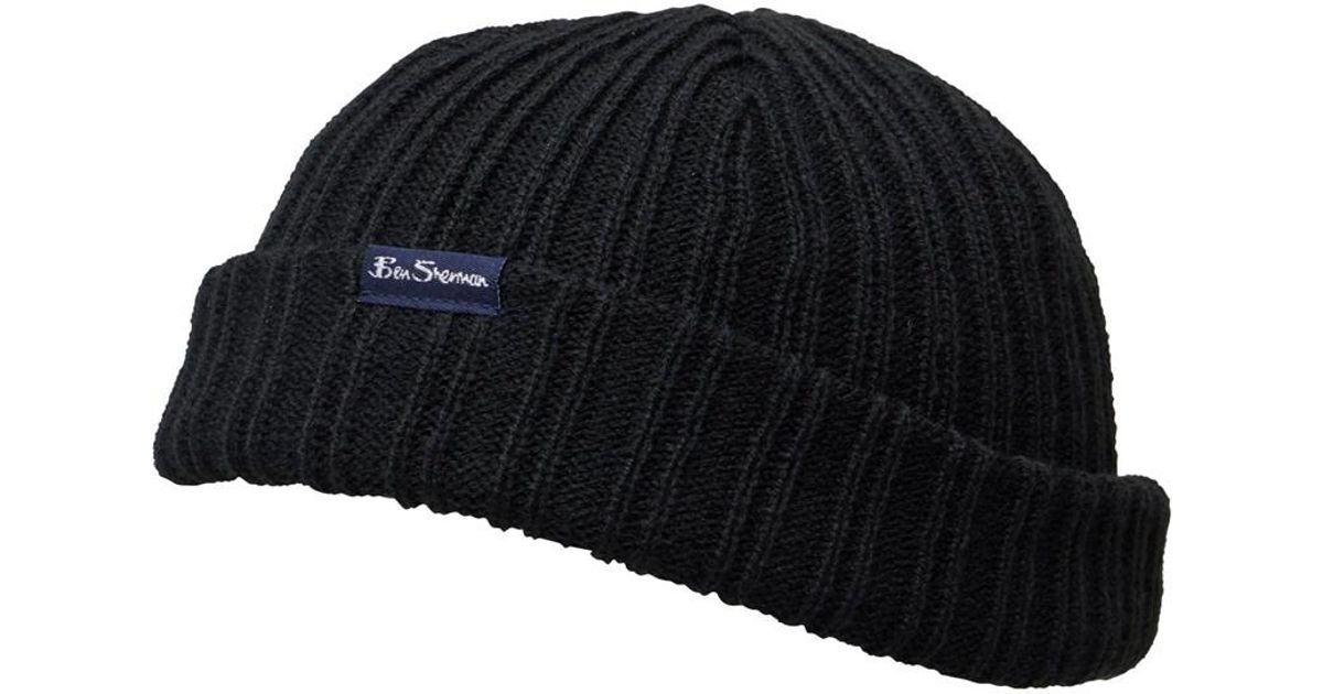 b4dcd555087 Ben Sherman Adler Docker Hat Black in Black for Men - Lyst