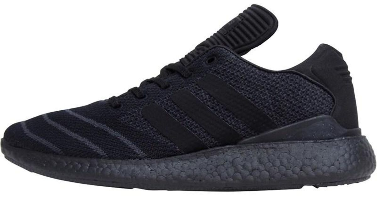 7f5ca4858 adidas Originals Busenitz Pureboost Primeknit Trainers Core Black core Black  core Black in Black for Men - Lyst