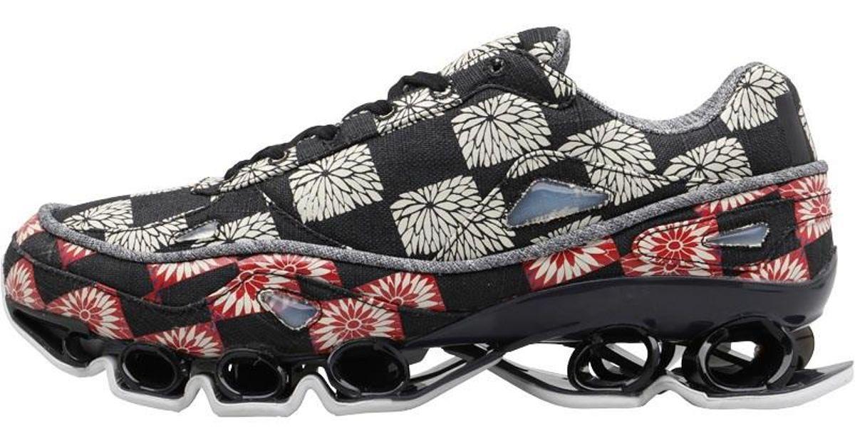 37958b3c2f083 adidas Originals X Raf Simons Bounce Trainers Core Black dark Grey footwear  White in Black - Lyst
