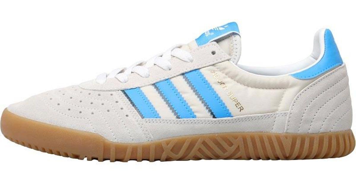 buy popular 61090 da64f adidas Originals Indoor Super Trainers Vintage White bright Blue collegiate  Navy in Blue for Men - Lyst