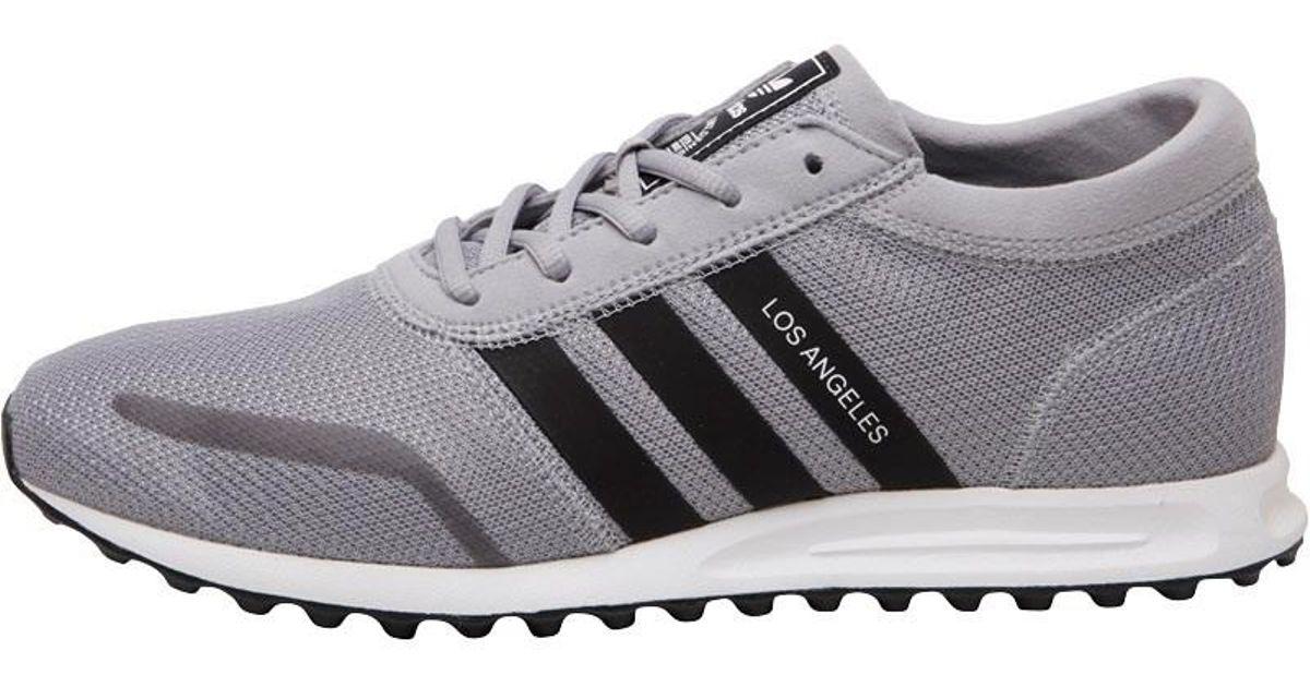 Adidas Originals Gray Los Angeles Trainers Mid Greycore Blackwhite for men