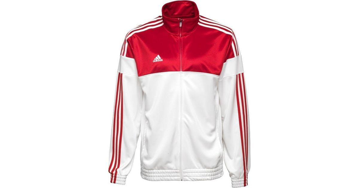 43c535bb959e adidas 3 Stripe Warm Up Basketball Track Jacket Power Red white in Red for  Men - Lyst