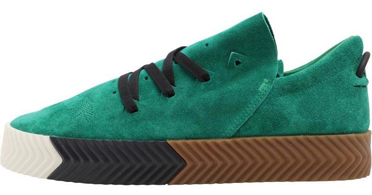 pretty nice d5e7b dfa75 adidas Originals X Alexander Wang Aw Skate Trainers Greenwhitegum in Green  for Men - Lyst