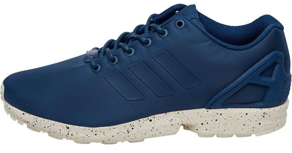 955a7cd7dfb8 adidas Originals Zx Flux Trainers Tech Steel utility Blue chalk White in  Blue for Men - Lyst