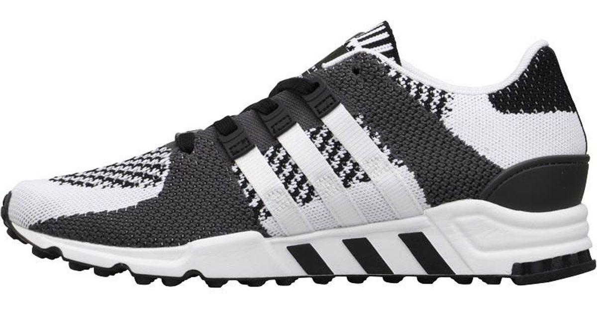 on sale 6b081 7671b adidas Originals Eqt Support Rf Primeknit Trainers Core Blackvintage  Whiteutility Black in Black for Men - Lyst