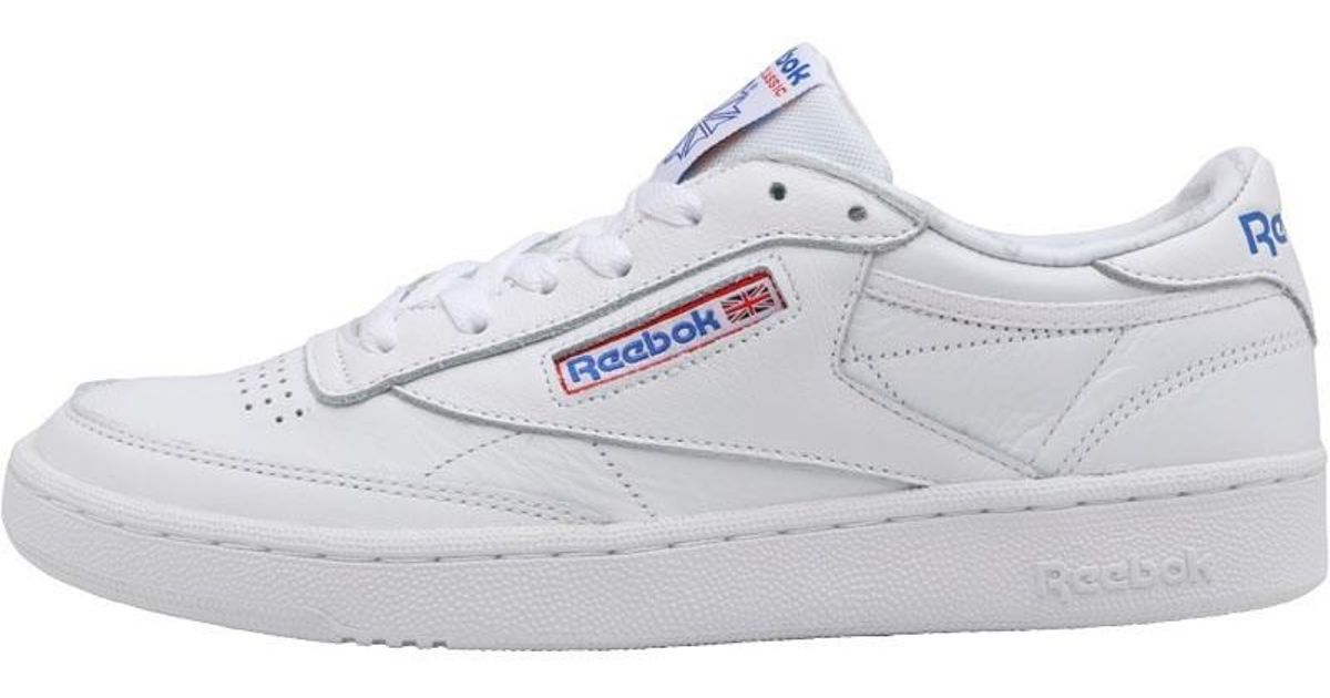 ece73af5a3a Reebok Club C 85 So Trainers White light Solid Grey vital Blue primal Red  in White for Men - Lyst