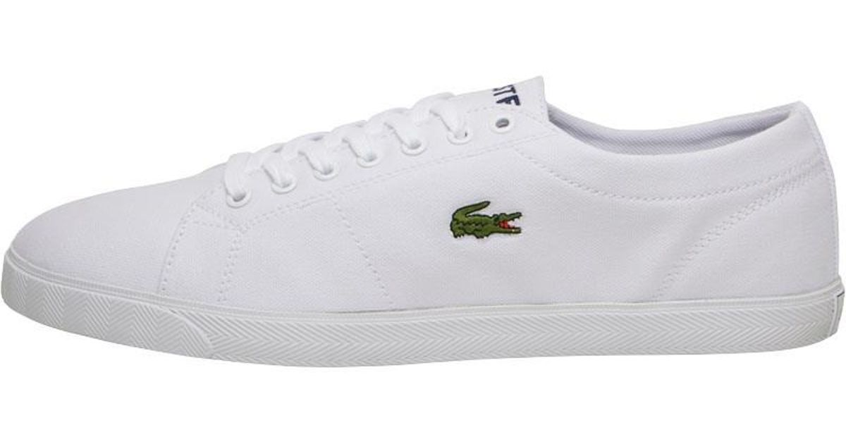 137fba682eaf Lacoste Riberac Canvas Trainers White white in White for Men - Lyst