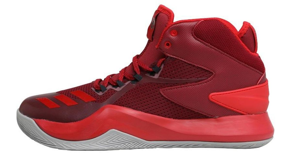 sale retailer 20f45 e4916 adidas Derrick Rose Dominate Iv Basketball Shoes Core  Burgundyscarletsolid Grey in Red for Men - Lyst