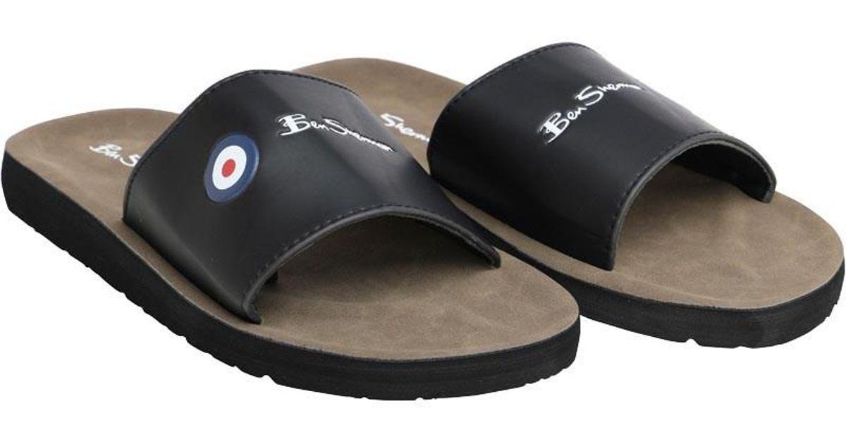 7da1804b2fe Ben Sherman Daytona Slider Sandals Black in Black for Men - Lyst
