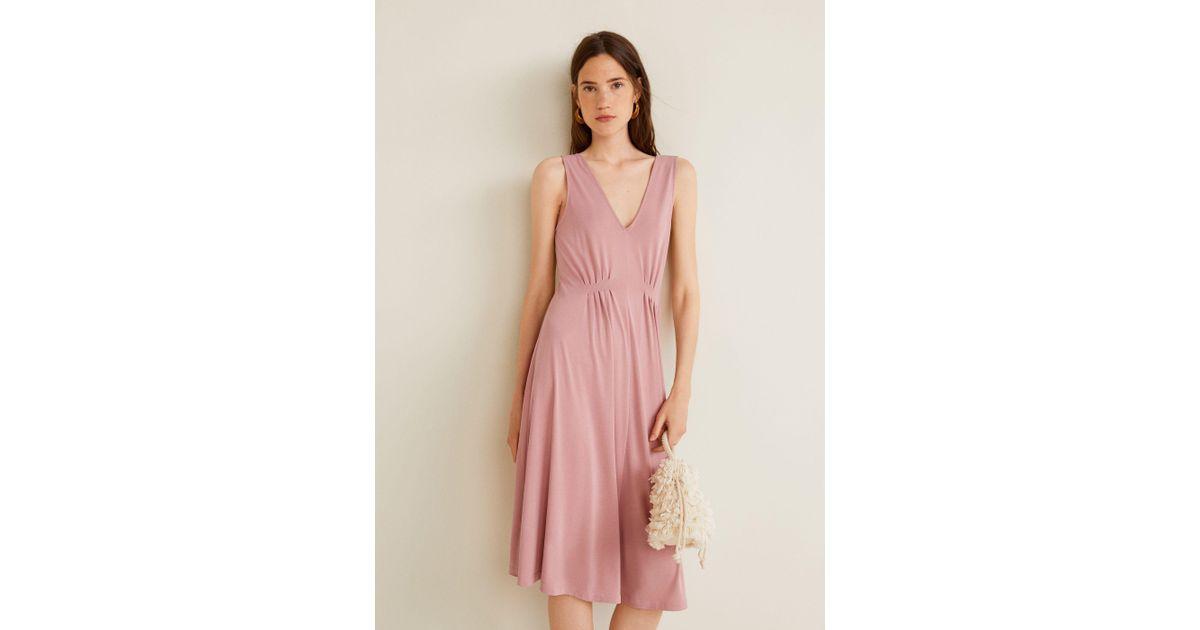 3051ae88363df Lyst - Mango Modal Dress in Pink