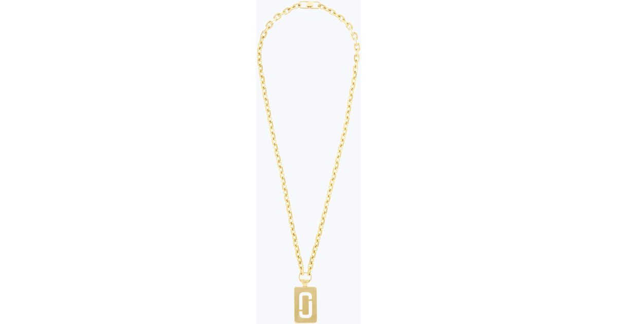 Lyst marc jacobs double j pendant necklace in metallic aloadofball Images
