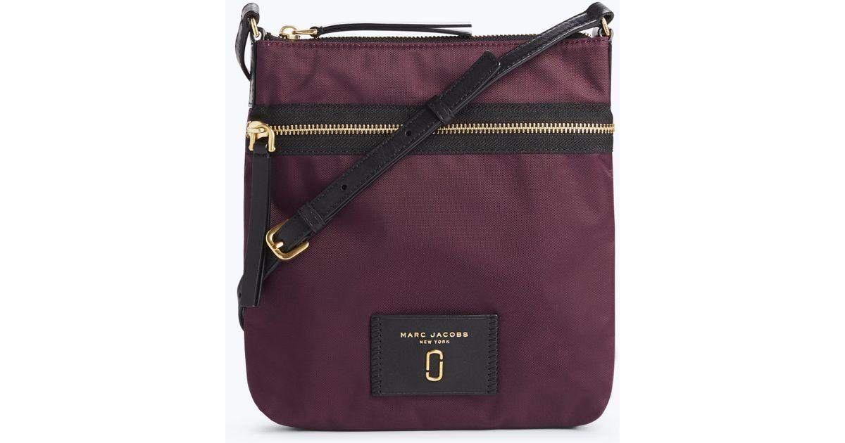9569cb60222e Lyst - Marc Jacobs Nylon Biker Ns Crossbody Bag in Purple