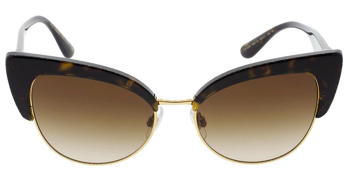 c1c2a598ad22 Lyst - Dolce & Gabbana Havana Cat Eye Sunglasses in Brown