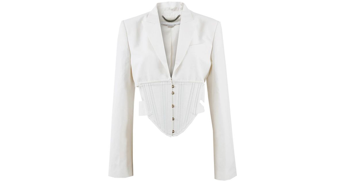9dc63a7dbdf Lyst - Stella McCartney Abigail Corset Jacket in White