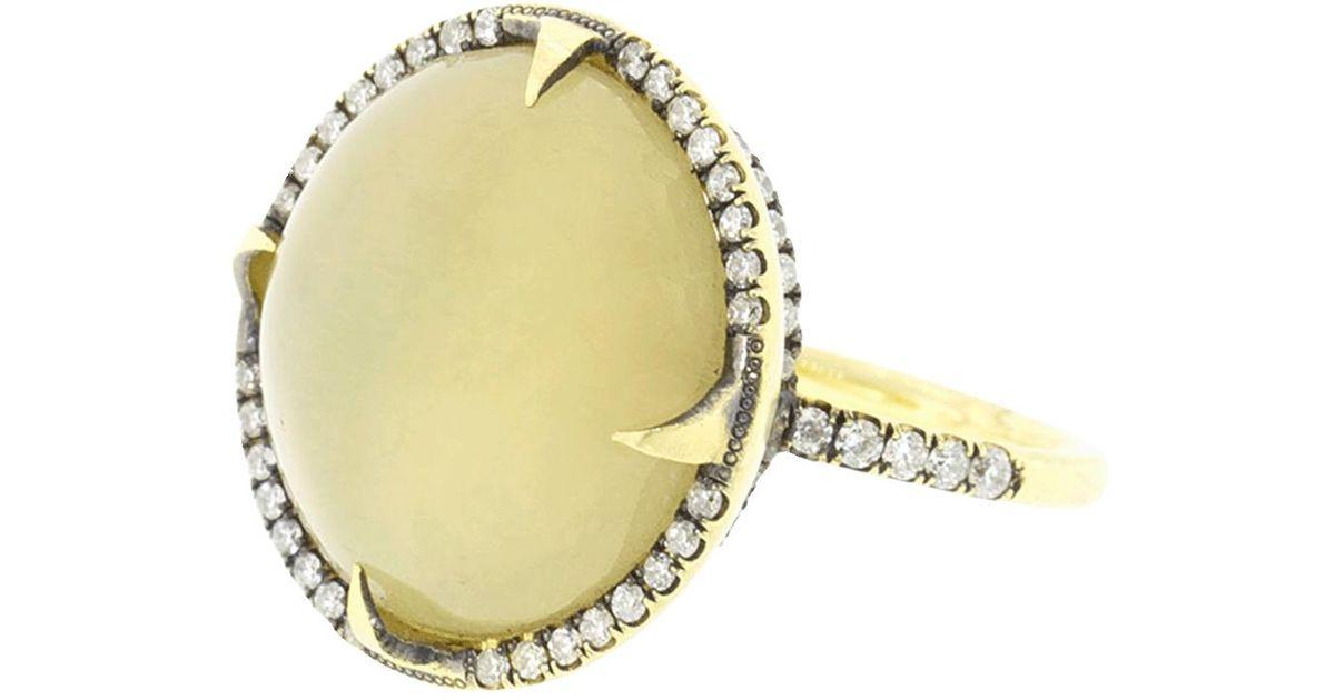 493c72015a8 Lyst - Sylva   Cie Cats Eye Quartz And Diamond Ring in Metallic