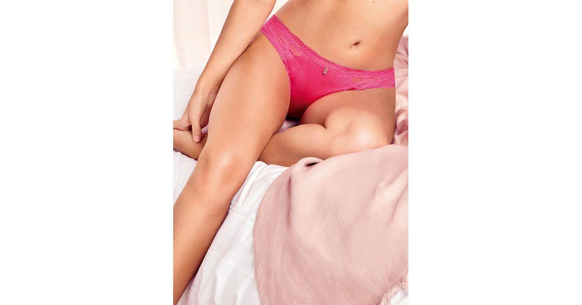 0bb818e37188 Lyst - Marks & Spencer Silk & Lace Brazilian Knickers in Pink