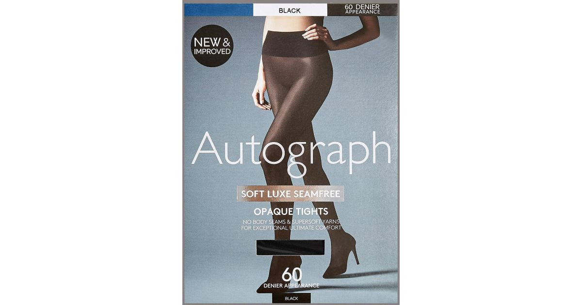 5380d6545d098 Marks & Spencer 60 Denier Velvet Touch Soft Luxe Seamfree Opaque Tights in  Black - Lyst