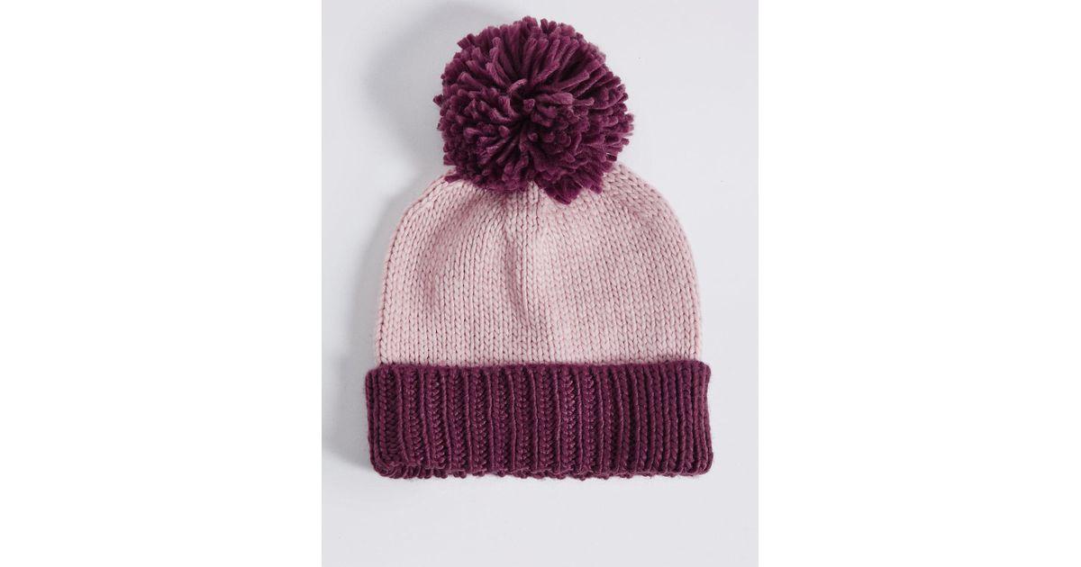 841c23257ce Marks   Spencer Bobble Winter Hat - Lyst