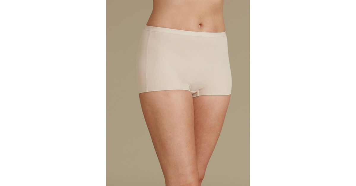 50a91662b7 Marks   Spencer 2 Pack Light Control No Vpl Shaping Shorts - Lyst