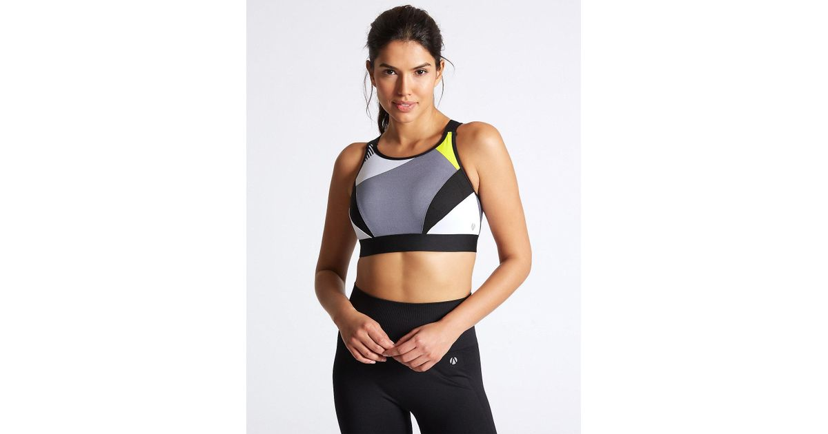 6fd614eff93 Marks   Spencer Extra High Impact Non-padded Sports Bra A-g - Lyst