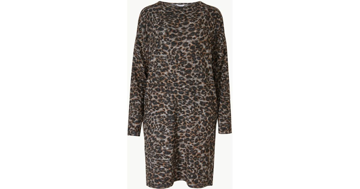 2ca6757aa0 Marks   Spencer Animal Print Lounge Dress - Lyst