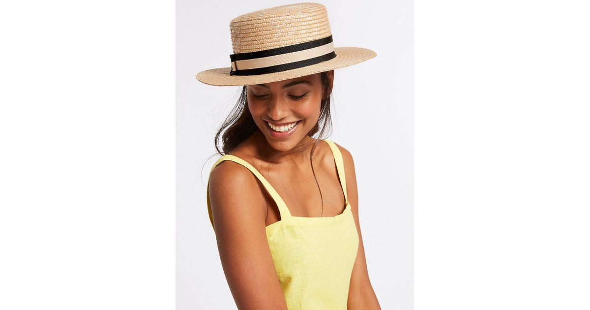Lyst - Marks   Spencer Boater Sun Hat in Natural 33ebe51cea2