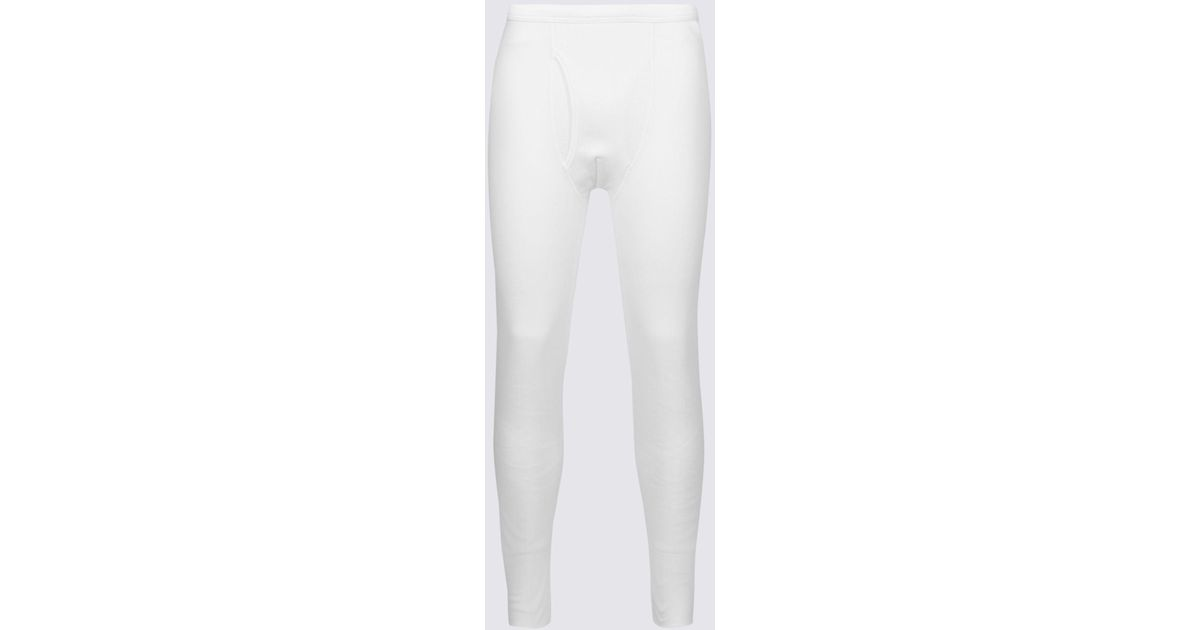 9a839552a Marks & Spencer - White Thermal Cotton Blend Long Johns for Men - Lyst