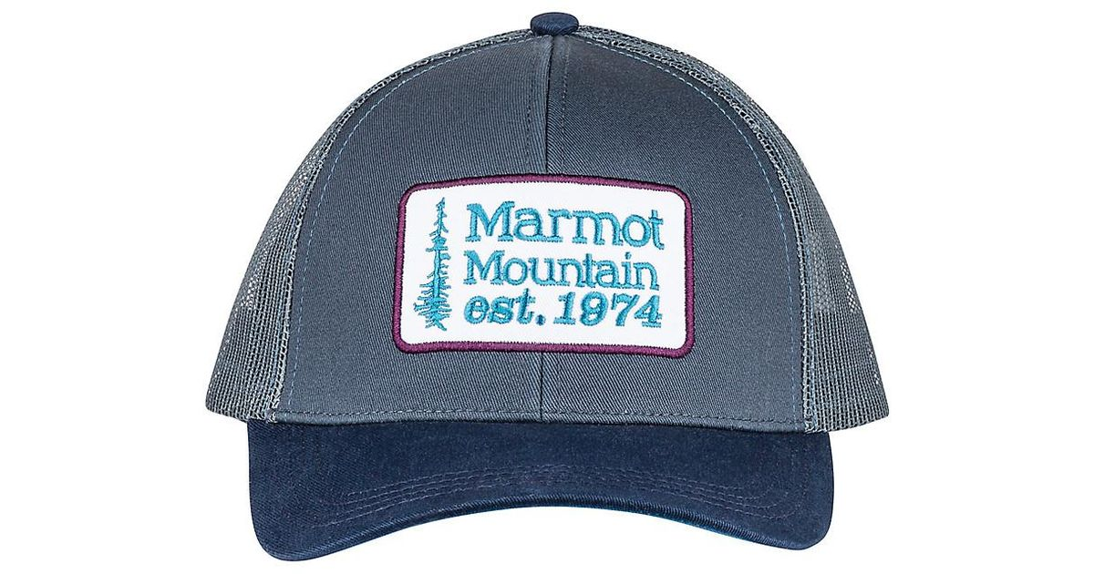 eac42af0b558d Lyst - Marmot Retro Trucker Hat in Blue for Men