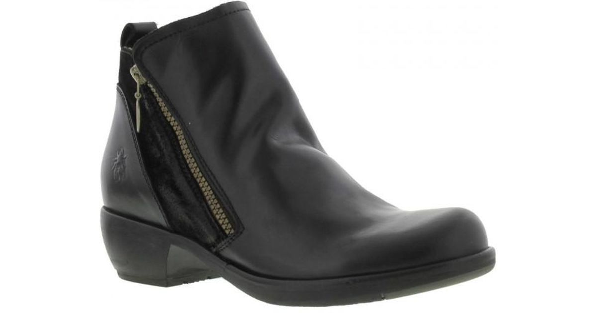 0bc41b695d38 Fly London Meli Casual Ankle Boots in Black - Lyst