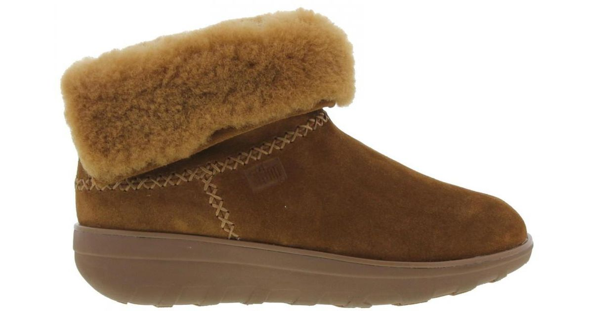 3cd10a4ac1257e Fitflop Mukluk Shorty Furlined Ankle Boots in Brown - Lyst