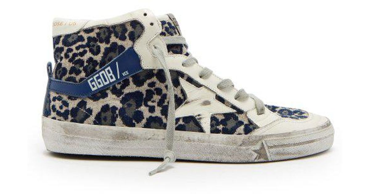 Leopard-print velvet high-top trainers Golden Goose aO3eQLFQFs