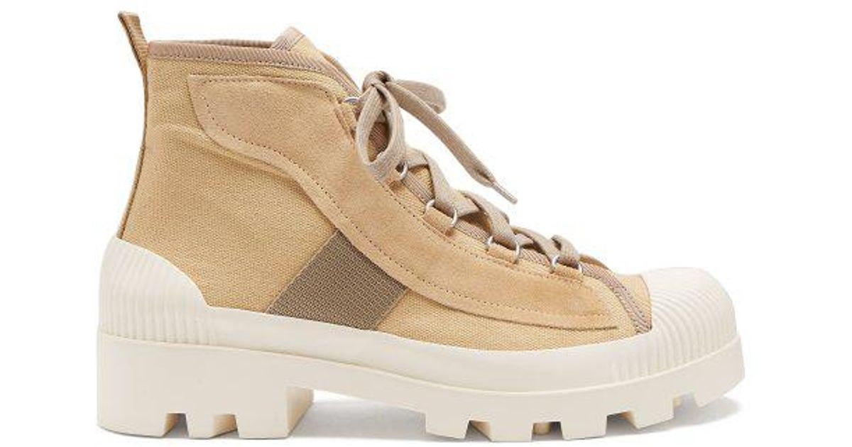 cbbe1e007f93 Lyst - Acne Studios Dinila Track-sole Ankle Boots in Natural