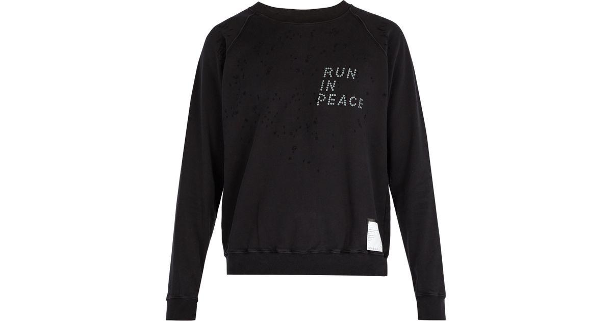 Noir Vieilli Lyst En Homme Shirt Coton Pour Coloris Sweat Satisfy Effet w7OZq41