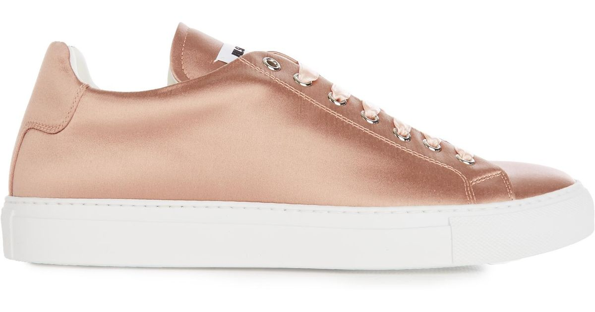 Women's Pink Low-top Satin Trainers