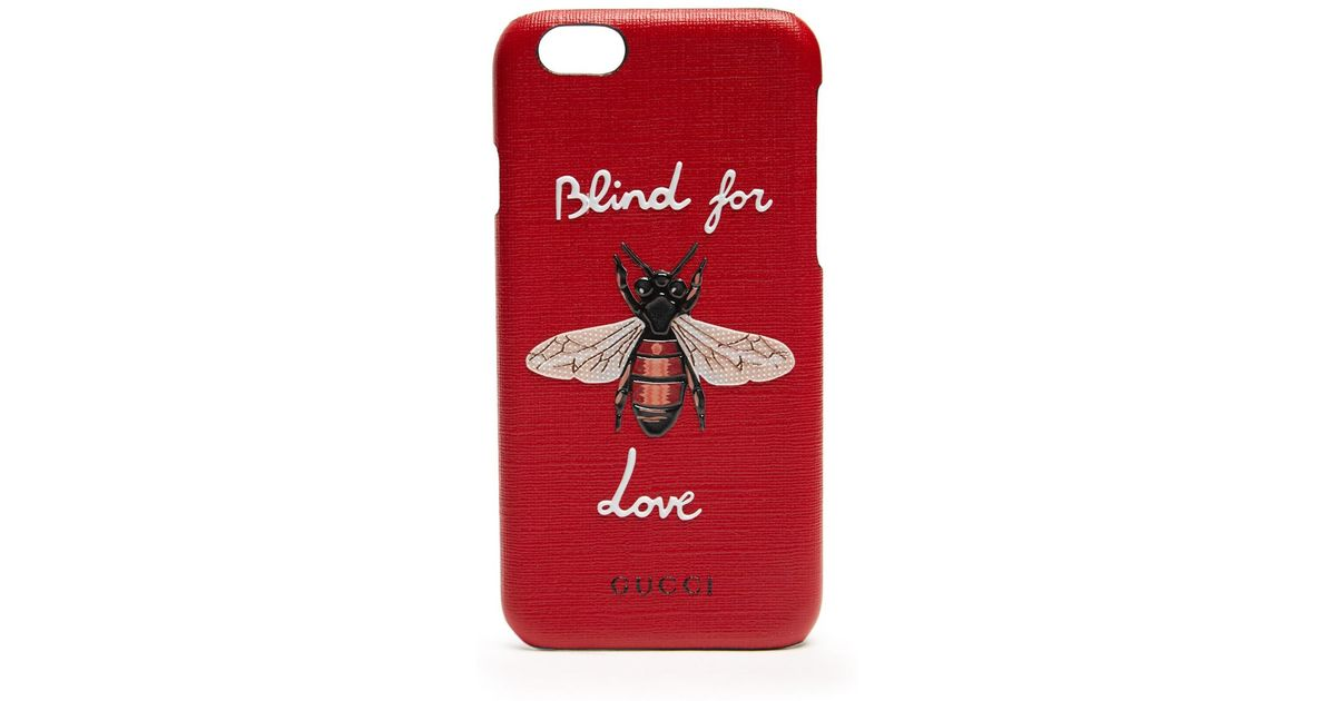 04961e76d4 Lyst - Gucci   39 blind For Love  39  Leather Iphone®