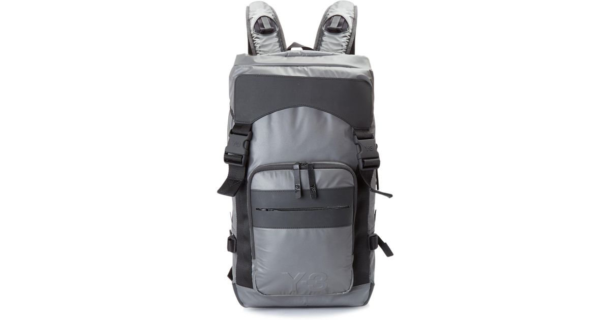 Lyst - Y-3 Ultratech Reflective Backpack in Gray for Men 100% quality 4da4a  ... 09d10fa966