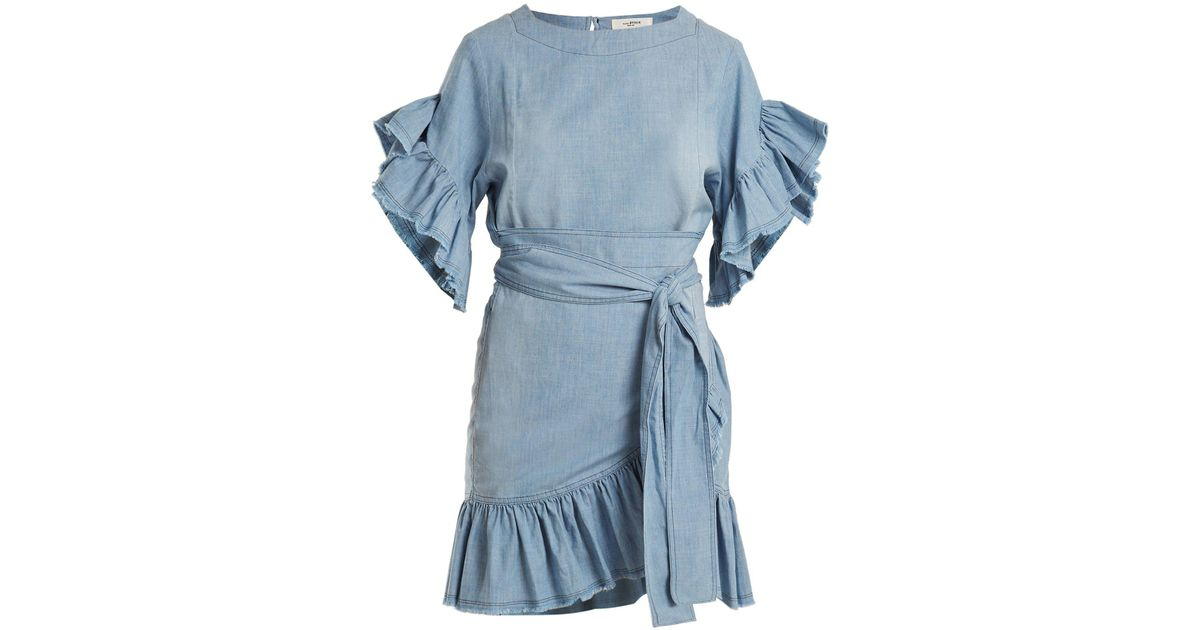 6e0abe28d63 Lyst - Étoile Isabel Marant Lelicia Chambray Dress in Blue