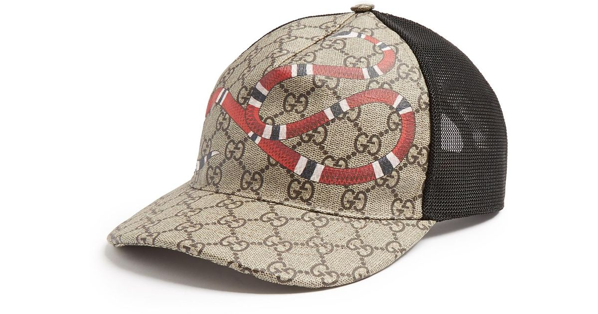 a6f47e5912a6f Gucci Snake-print Cap for Men - Lyst
