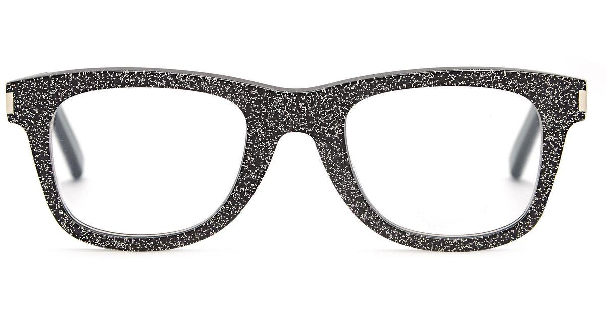 044b7d1db2 Lyst - Saint Laurent D-frame Glitter Glasses in Black