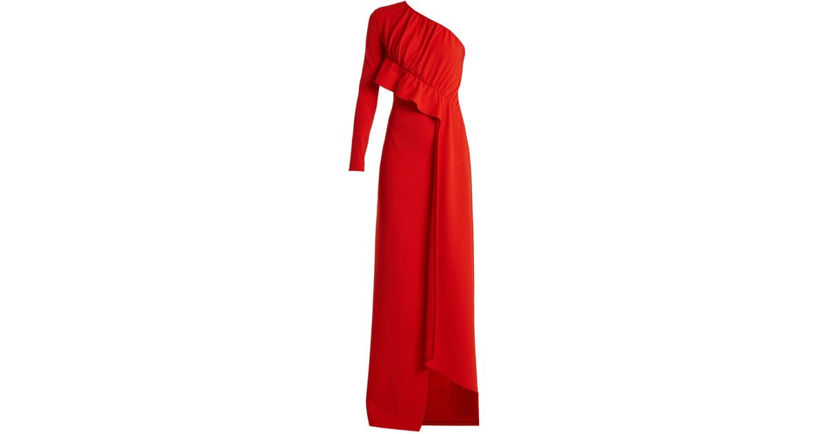 one-shoulder dress - Red Givenchy Marketable Cheap Sale With Mastercard Buy Cheap Finishline PIFdx2ZWSg