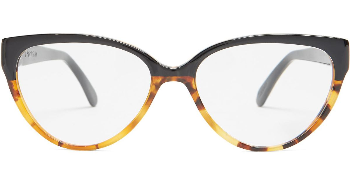 24c7bbf75a4 Prism Cannes Cat-eye Acetate Glasses in Black - Lyst