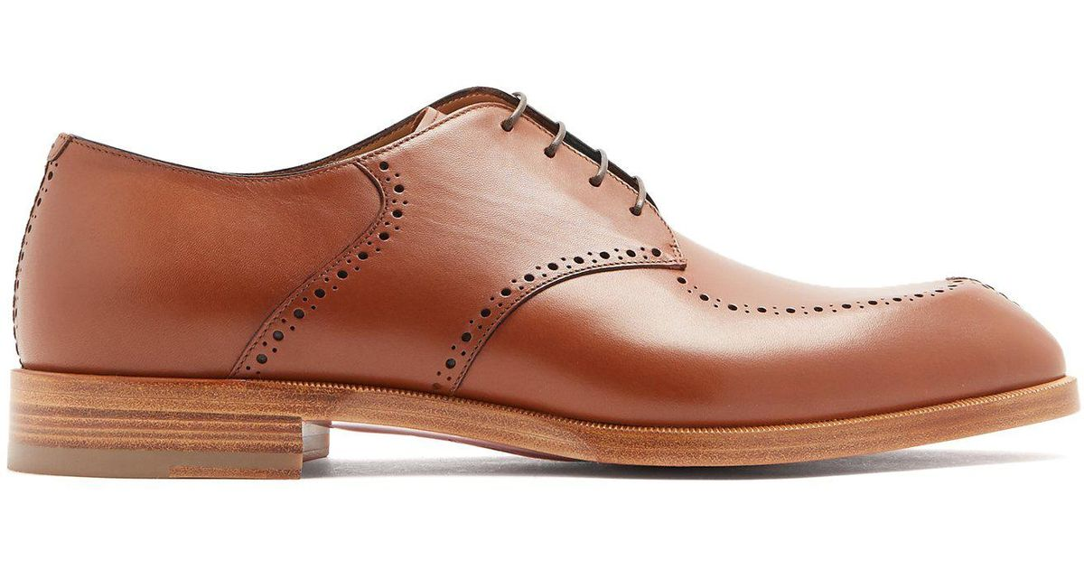 9e9f0f84d126 Lyst - Christian Louboutin A Mon Homme Leather Derby Shoes in Brown for Men