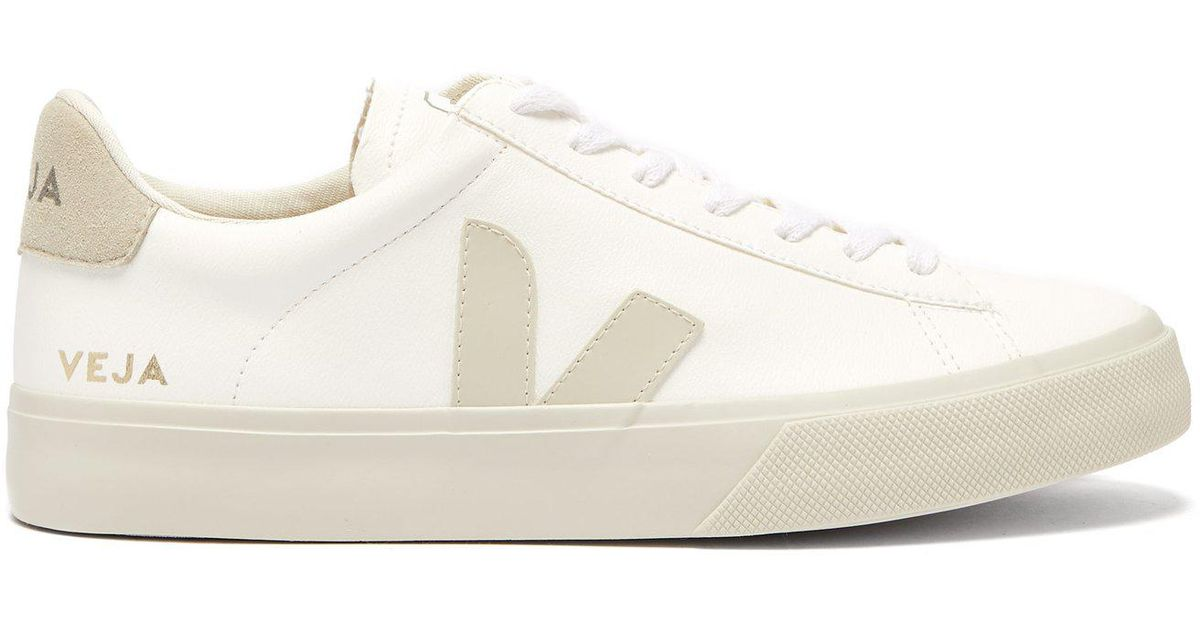 5023ca43e040 Veja - White Esplar Leather And Suede Sneakers - Lyst