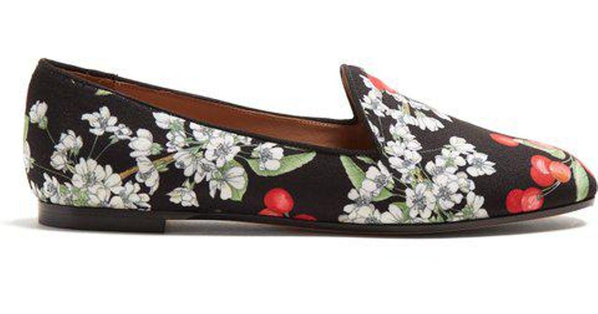 c186453cafc1 aquazzura-BLACK-MULTI-Formentera-Cherry-Blossom-print-Loafers.jpeg