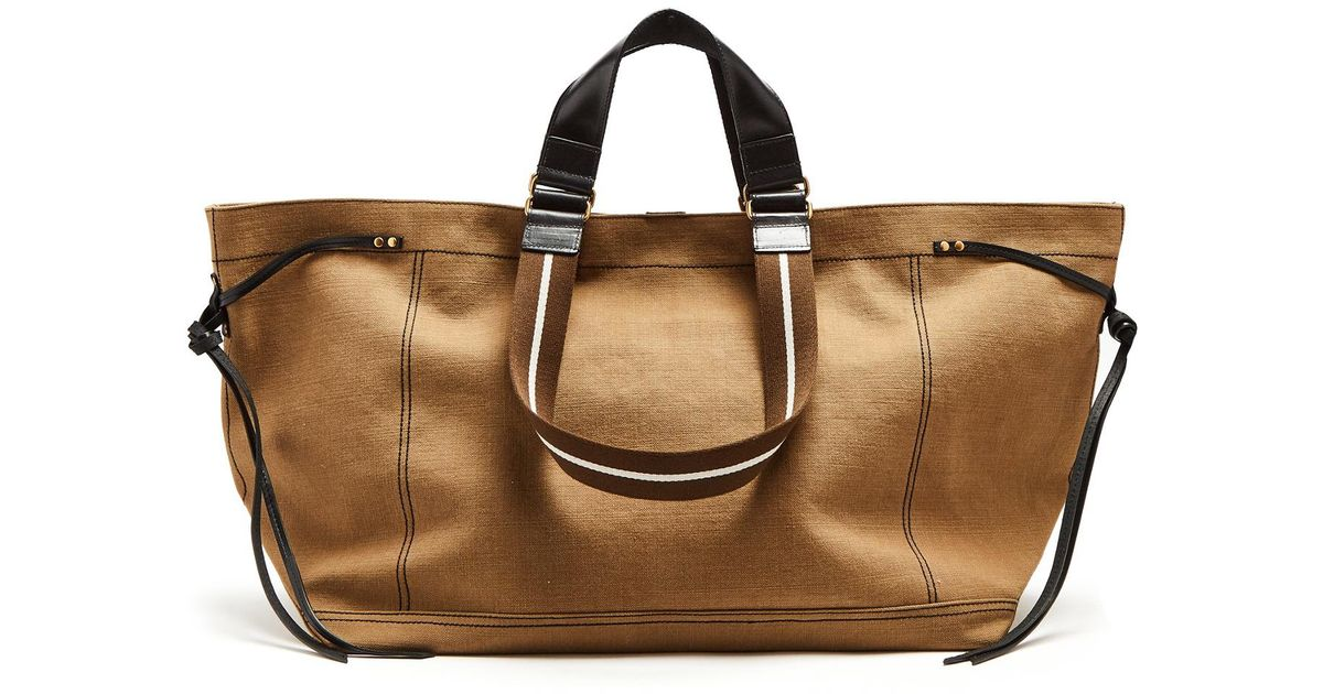 b500bb011c Isabel Marant Wardy Canvas Tote in Natural - Lyst